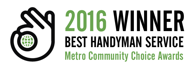 2016 Winner - Best Handyman Service, Metro Winnipeg Community Choice Awards
